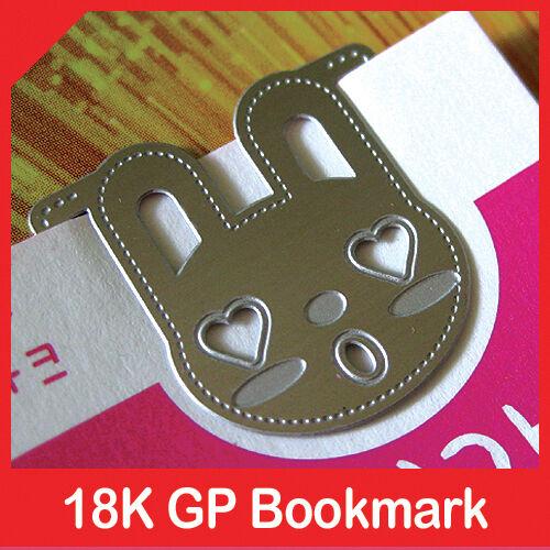 mini metal bookmark BUNNY IN REAL LOVE rabbit clip silver color book accessory in Books, Accessories, Bookmarks | eBay