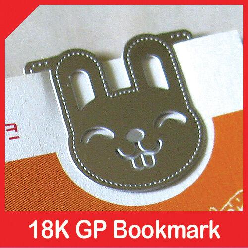 mini metal bookmark CUTE SMILE BUNNY rabbit clip silver color book accessory in Books, Accessories, Bookmarks | eBay