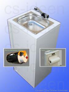 mobiles handwaschbecken warmwasser kaltwasser lmhv imbiss. Black Bedroom Furniture Sets. Home Design Ideas