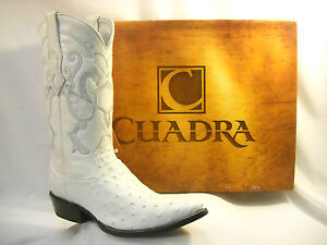 New Cuadra White Authentic Ostrich Cowboy Boots All Sizes