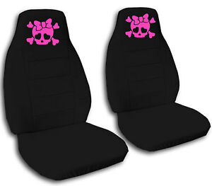 Pink Skull Car Seat Covers