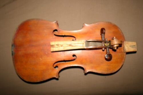 old antique German Strad labeled violin restoration repair No res in Antiques, Musical Instruments (Pre-1930), String | eBay