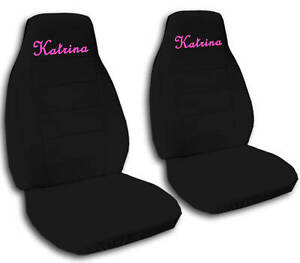Personalized 2 FRONT CAR SEAT COVERS WITH YOUR NAME WE
