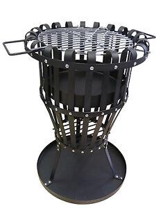 point garden feuerkorb feuerstelle mit grill einsatz neu. Black Bedroom Furniture Sets. Home Design Ideas