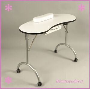 Portable folding manicure table nail tech mobile desk for Portable manicure table nail technician workstation