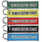 Remove Before Flight sleutelhangers, baggage tags