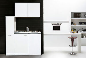 respekta mini pantry single k che 130 cm weiss mit. Black Bedroom Furniture Sets. Home Design Ideas