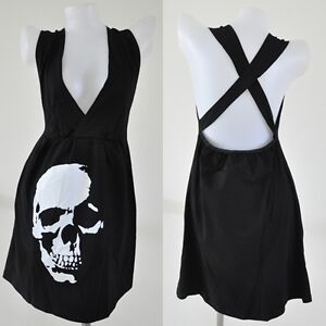 Cocktail Party Dress on Rock Cocktail L Skull Mini Punk Vtg Party Sexy Emo Dress Black Goth
