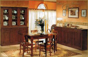 Sala da pranzo completa credenza contromobile tavolo sedie for Mobili sala da pranzo arte povera