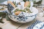 Servies Laura Ashley porselein blauw wit bloemrijke designs