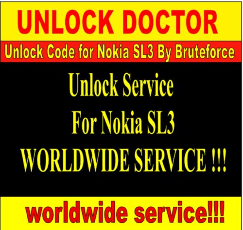 sl3 unlock by Local Brute Force calculation for Nokia SL3 unlock code FAST in Everything Else, Information Products, Other | eBay