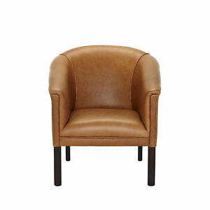 Small leather tub chair pubs clubs studyroom bedroom Small leather couch for bedroom