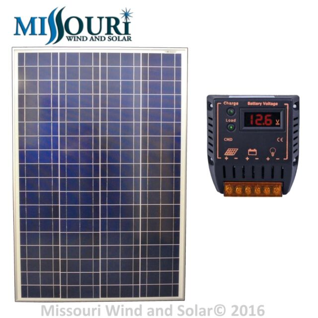 solar panel kit 12 volt 100 watt solar panel 20 amp. Black Bedroom Furniture Sets. Home Design Ideas