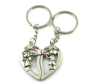 sweet heart boy and girl lover couple metal key chain in Collectibles, Pez, Keychains, Promo Glasses, Keychains | eBay