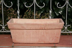 terracotta blumentopf terracotta pflanztopf terrakotta ton balkonkasten 31 cm ebay. Black Bedroom Furniture Sets. Home Design Ideas