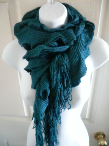 (various colors) NEW womens VANTAGE Ruffle Knitted Crochet Long scarf wrap shawl in Clothing, Shoes & Accessories, Women's Accessories, Scarves & Wraps | eBay
