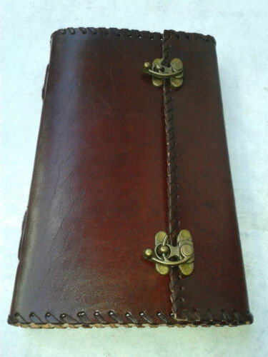 vintage handmade real leather journal MADE BY : LEATHER ART UDAIPUR in Books, Accessories, Blank Diaries & Journals | eBay
