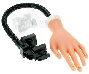 weichlich-Faelschung-Training-Hand-Ubungshand-fuer-Naildesign-mit-Tischhalterung