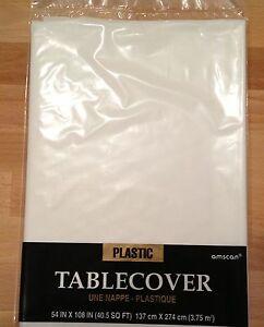 wei e weisse tischdecke kunststoff plastik abwaschbar plastiktischdecke wei ebay. Black Bedroom Furniture Sets. Home Design Ideas