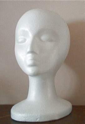 styrofoam mannequin head for costume wig hat sunglasses headdresses