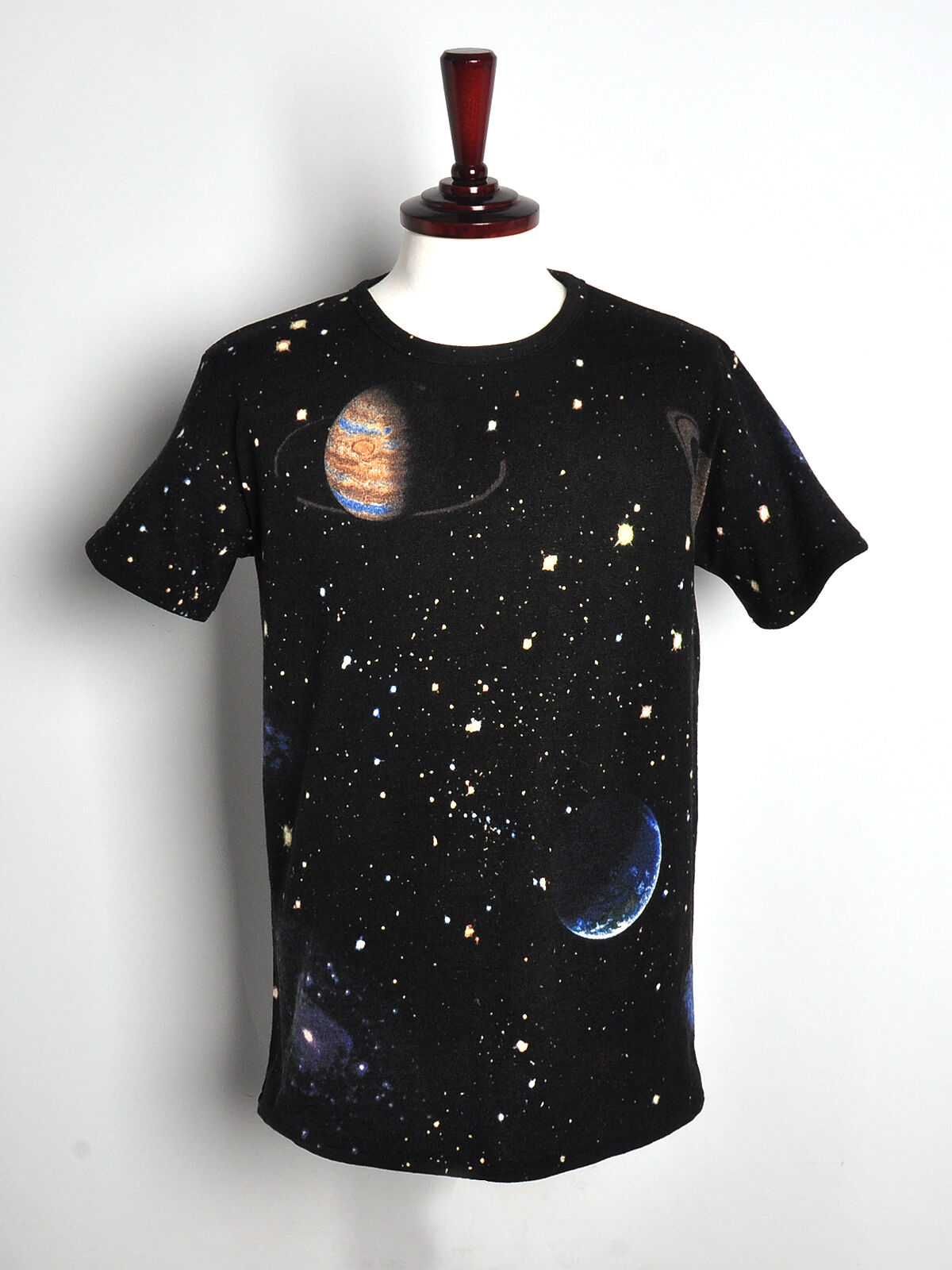 womens galaxy space stellar t-shirt loose fitting short sleeve mini dress top
