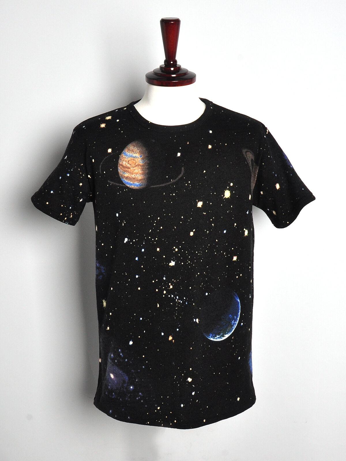 womens galaxy space stellar t-shirt loose fitting short sleeve mini dress top