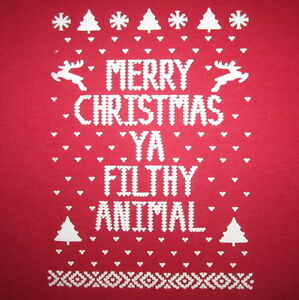 Womens Ugly Christmas Sweater T Shirt Reindeer Holiday Vintage Snow ...