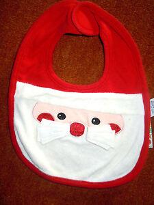 wunderschoenes-weihnachtliches-Babylaetzchen-Weihnachtsmann-mit-Bart-TOP