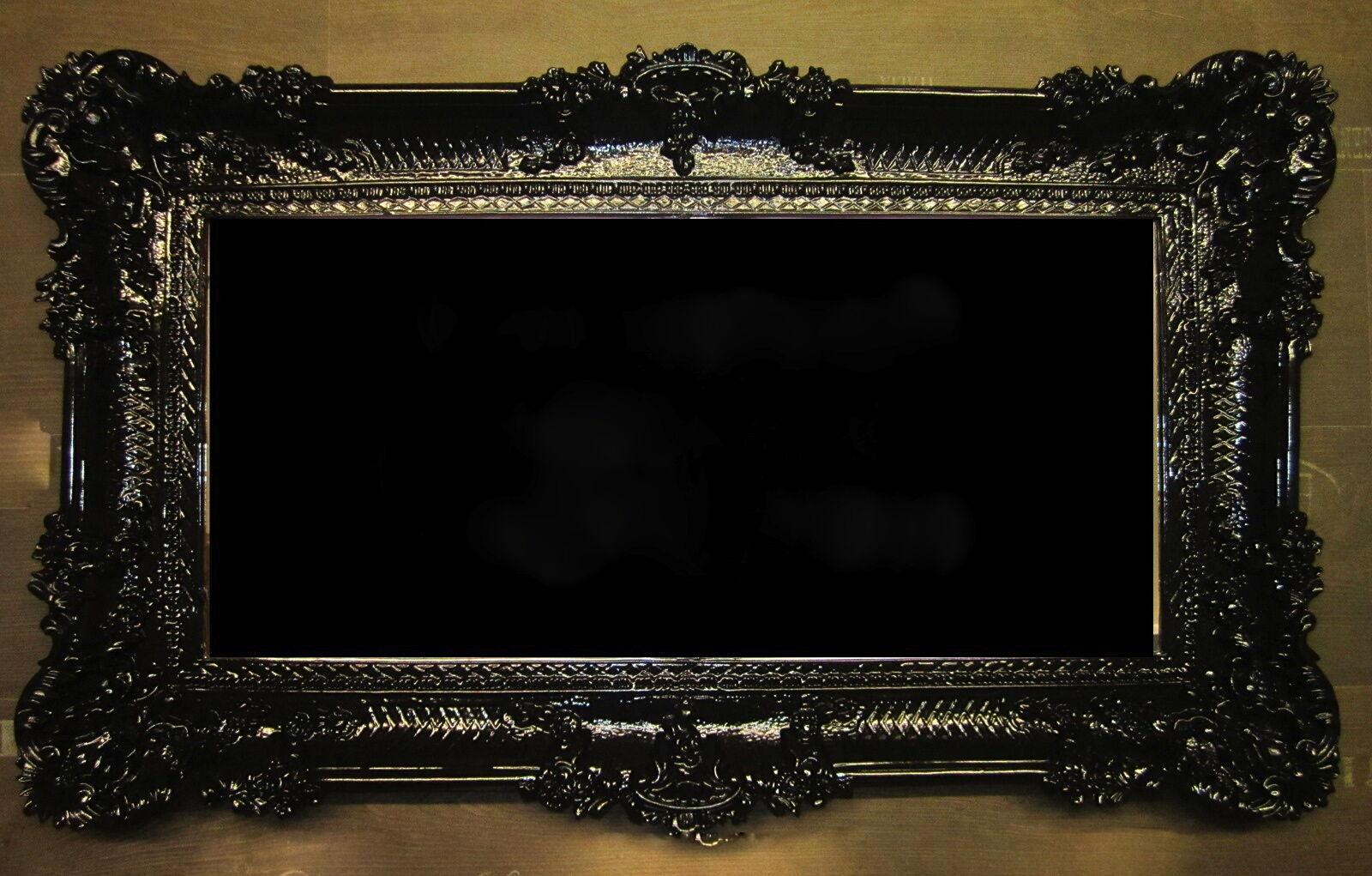 gro er bilderrahmen xxl barock antik gold 96x57. Black Bedroom Furniture Sets. Home Design Ideas