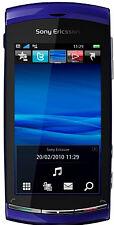 Téléphones mobiles bleus avec écran tactile sur désimlocké