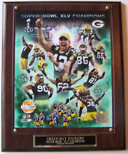 GREEN BAY PACKERS SERIAL# SUPER BOWL XLV PHOTO PLAQUE