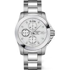 Conquest Longines Armbanduhren aus Edelstahl mit Datumsanzeige