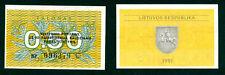 EUROPA: 0.50 TALONAS LITHUANIA. AÑO 1991. SERIE BO. PLANCHA/UNC