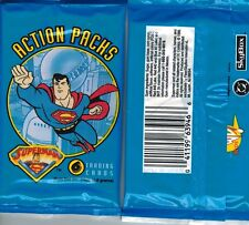 1996 SKYBOX SUPERMAN ACTION TRADING CARD PACK FROM BOX