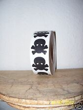 LOT 50 SKULL AND & CROSSBONES CROSS BONES TANNING BED PIRATE STICKERS TATTOOS