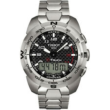 Titanium Band Round Wristwatches with Chronograph