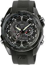 Analoge Casio Armbanduhren in Schwarz