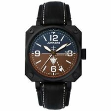Markenlose Armbanduhren mit Armband aus echtem Leder und Edelstahl