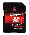 Kingston 64GB SDXC Camera Memory Cards for Samsung