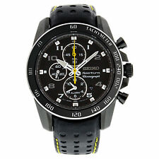 Sportliche polierte Armbanduhren mit Armband aus echtem Leder und Chronograph