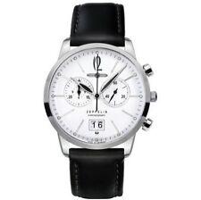 Armbanduhren aus echtem Leder mit Datumsanzeige und 50m (5 ATM)