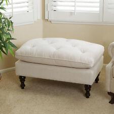 Great Elegant Design Soft Tufted Fabric Ottoman Footstool