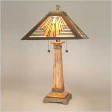 Wooden Art Deco Table Lamps