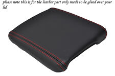 RED STITCHING FITS VOLVO C30 2006-1202 LEATHER ARMREST COVER ONLY