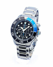 Stainless Steel Case Diver Round Watches with Chronograph