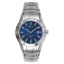 Bulova Men's Stainless Steel Band Wristwatches with Date Indicator
