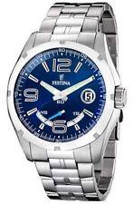 Festina Armbanduhren aus Edelstahl mit 12-Stunden-Zifferblatt für Herren