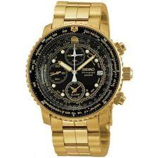 Seiko Quarz-Armbanduhren (Batterie) mit Edelstahl-Armband und Chronograph