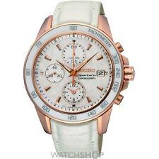 Weiße Seiko Armbanduhren mit Chronograph