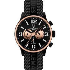 Jacques Lemans Armbanduhren aus Silikon/Gummi mit Datumsanzeige für Herren